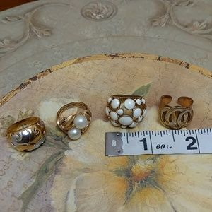 Jewelry - Set of 4 gold tone fashion rings - size 7